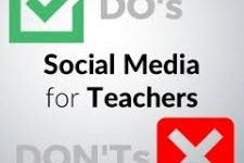 Should teachers interact with students over social media?