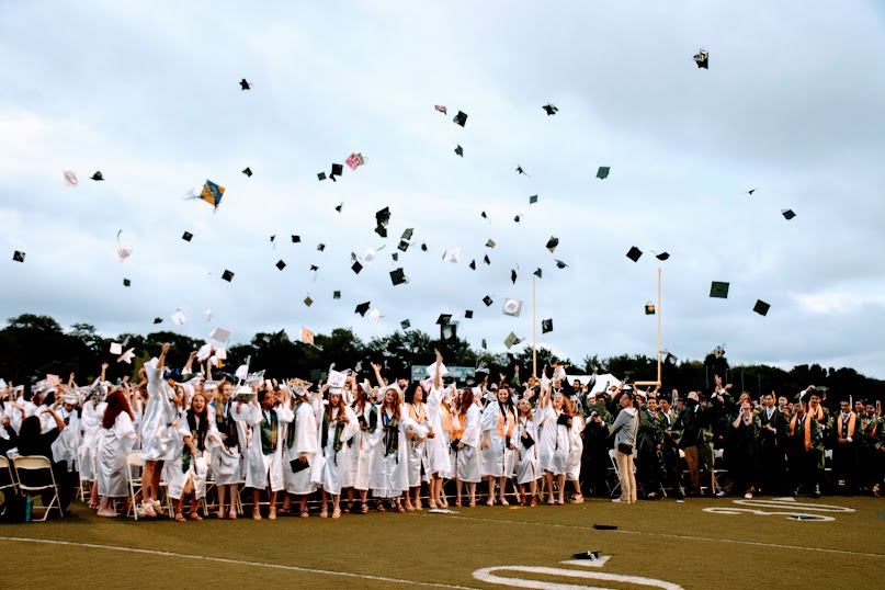 The Class of 2018 celebrating becoming official graduates on June 22, 2018.
