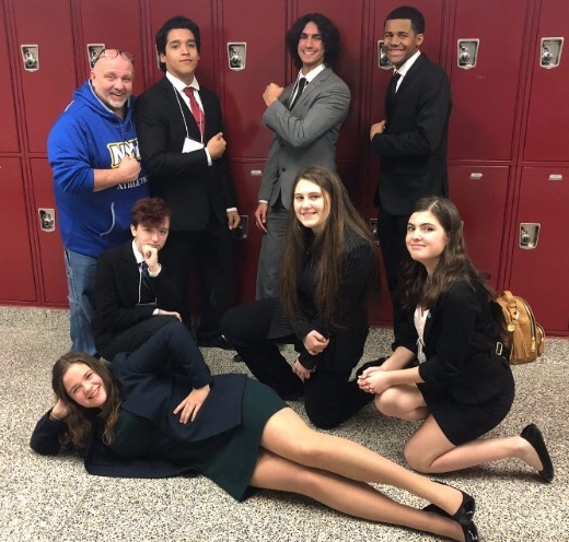 Lindenhurst students at the 2019 Connetquot Model UN Conference in Connetquot High School