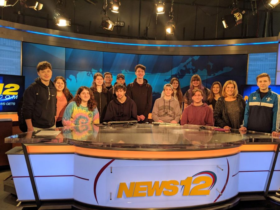 CST Students visit News 12 Studios in Woodbury.