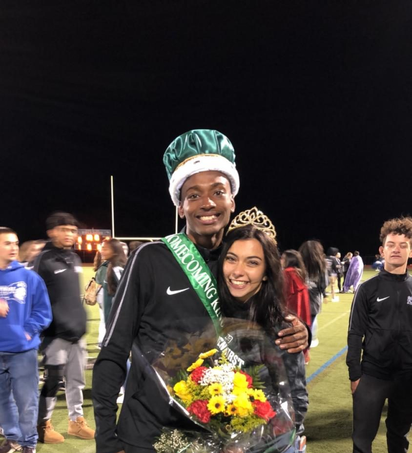 Eric and Sophia after receiving their crowns!