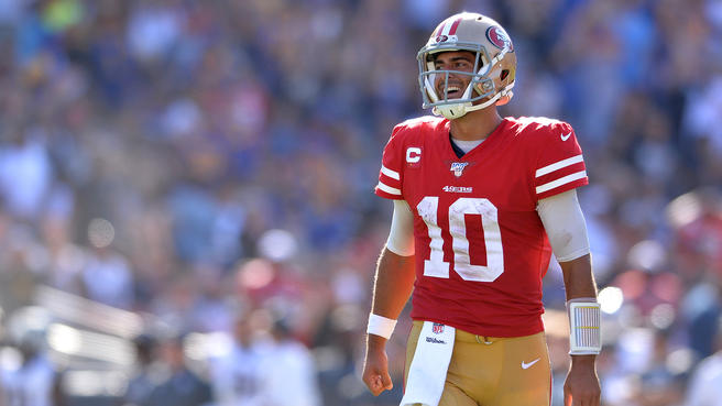 Quarterback Jimmy Garoppolo