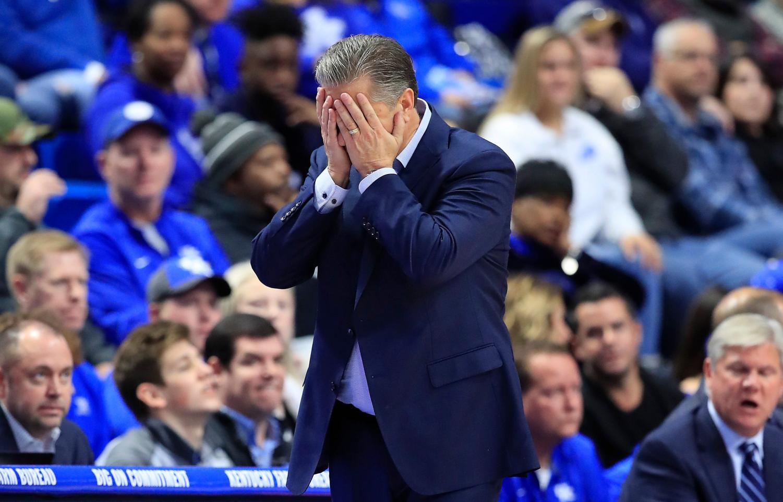 Coach Calipari in disbelief