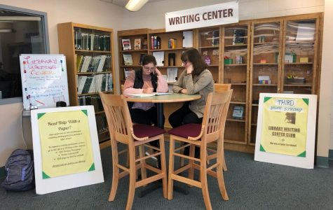 Lindenhurst High School Library Writing Center.