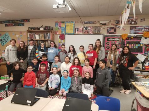CST staff and Jr. Journalists at Daniel Street School