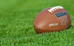 Iasi, Romania - September 20, 2012:  Wilson NFL Trakified American Football ball, on the field